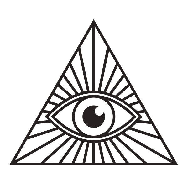 illuminati eye pyramid vinyl decal sticker for car  truck