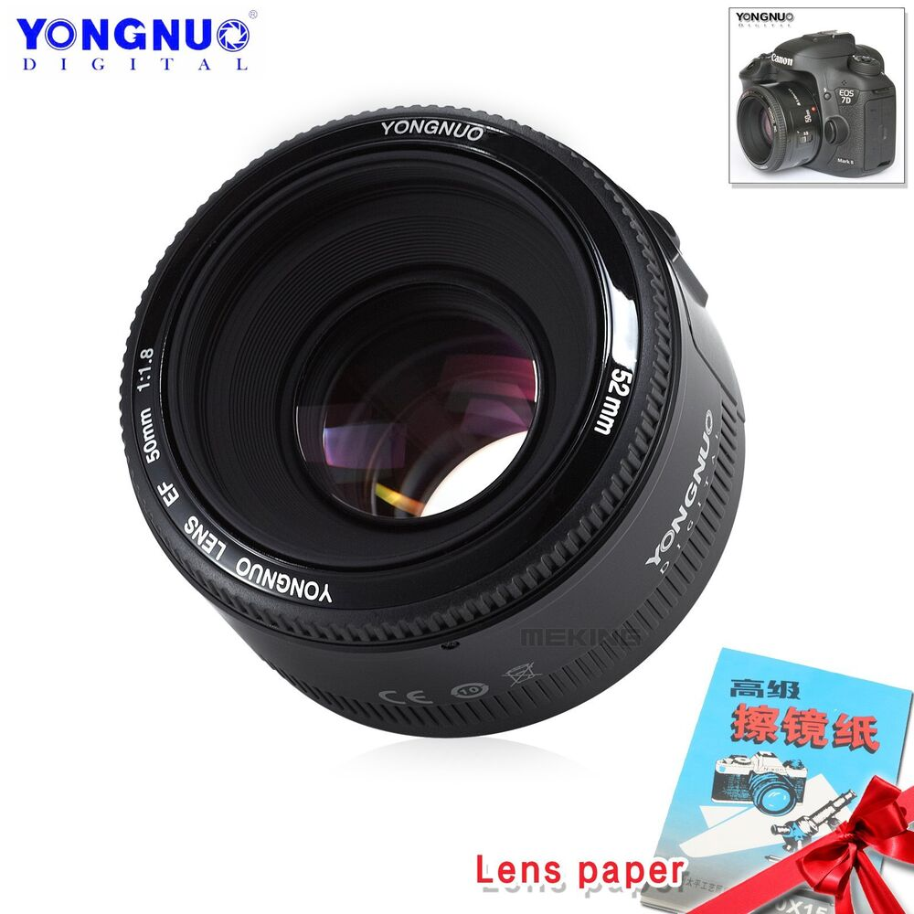 Yongnuo Yn 50mm F 18 Af Mf Prime Fixed Lens Gift For Canon Ef Fix Eos Camera Uk Ebay