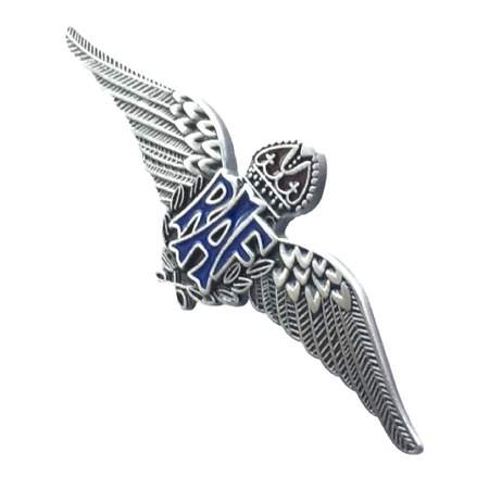 img-MOD Approved RAF Royal Air Force Subdued Colour Sweetheart Wings Brooch Badge