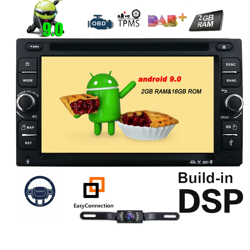 6 2 4 core android 7 1 car dvd player gps receiver 2 din. Black Bedroom Furniture Sets. Home Design Ideas