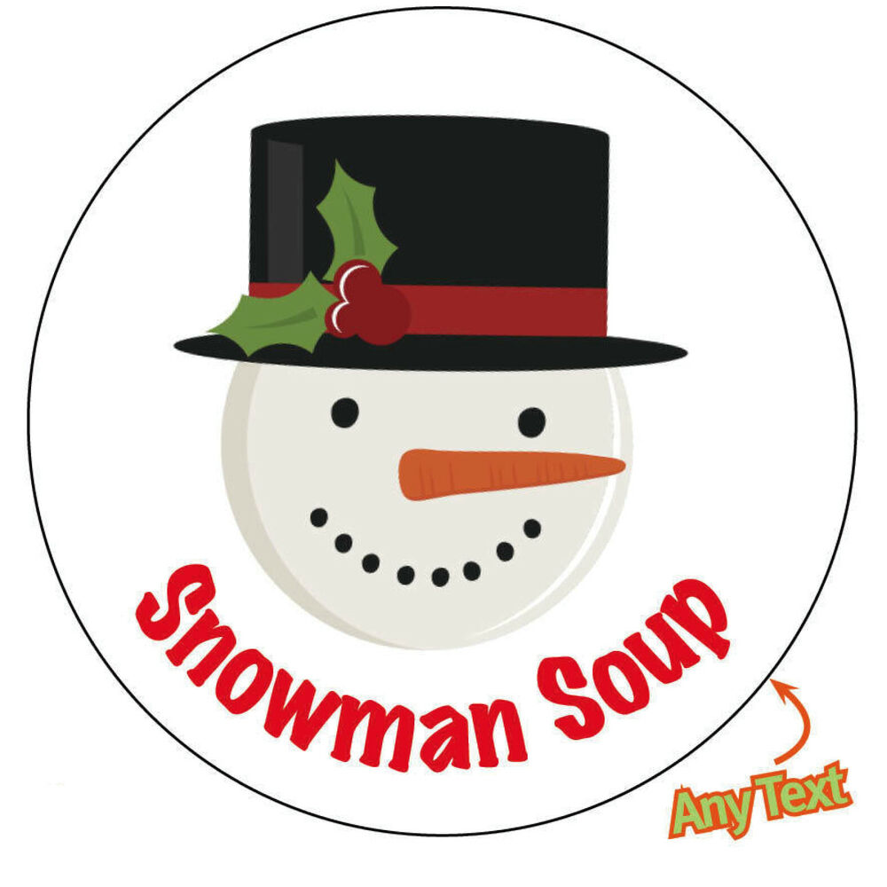 It is a graphic of Persnickety Free Snowman Soup Labels