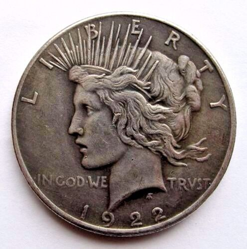 Two Sided 1922 Peace Silver Dollar Coin Double Headed Coin