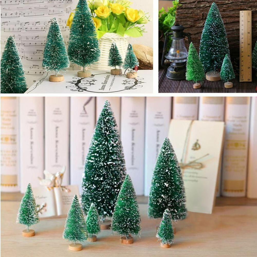 5 st ck mini weihnachten baum weihnachtsbaum tannenbaum christbaum dekoration ebay. Black Bedroom Furniture Sets. Home Design Ideas