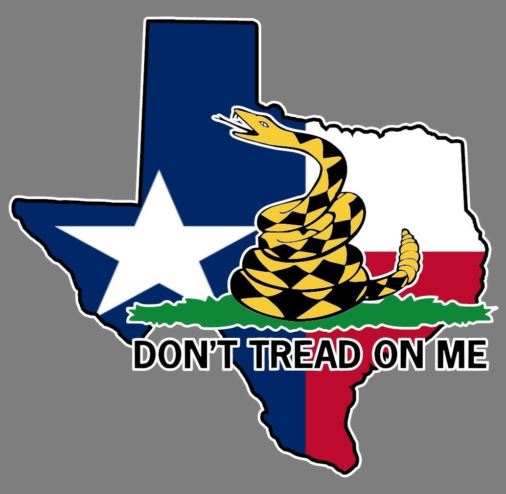 Details about texas state flag dont tread on me gadsden flag sticker decal car truck window