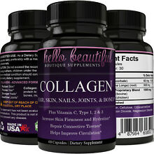 Collagen Advanced Formula 1, 2 & 3, Capsules - Non-GMO High Potency! Fast Acting