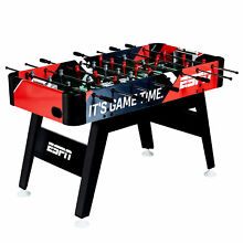 ESPN 54-Inch Foosball Soccer Arcade Table with Bead Scoring and Accessories