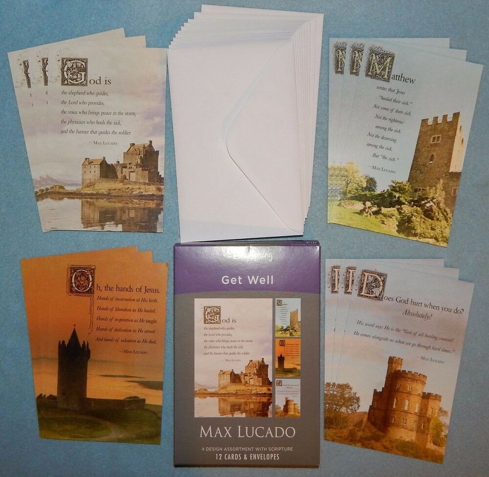 Box of 12 max lucado get well cards by dayspring 37120 new ebay kristyandbryce Choice Image
