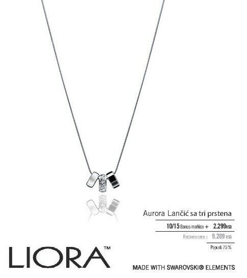 liora fine jewellery tri necklace with swarovski elements