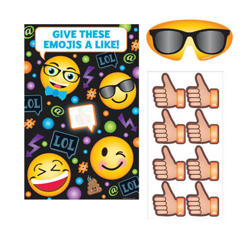 Details About EMOJI LOL PARTY GAME POSTER Birthday Supplies Decoration Activity IPhone Black