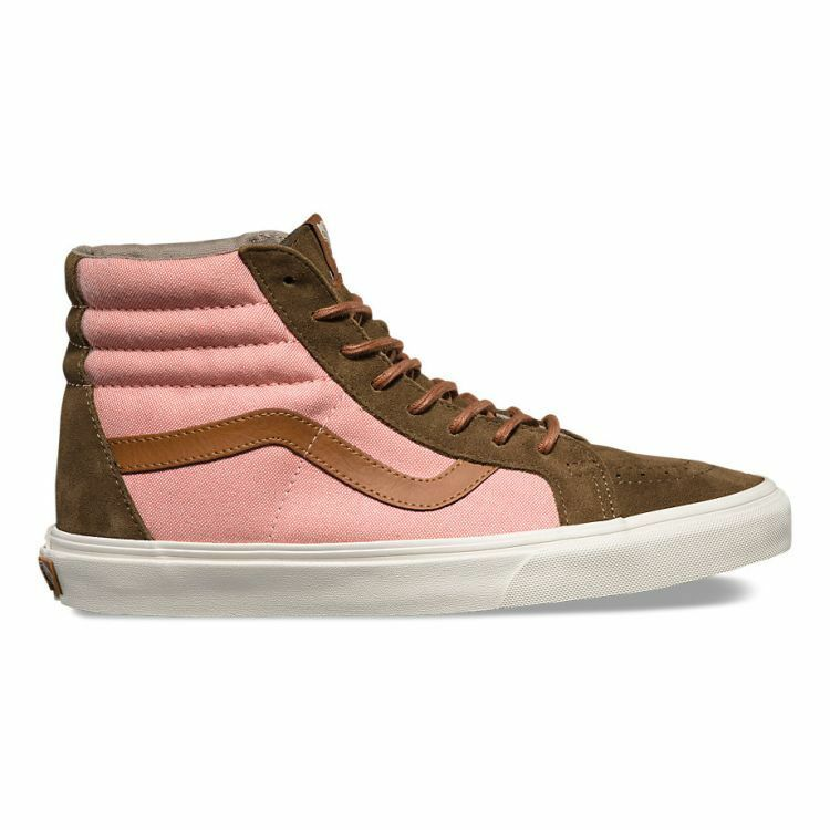bad92bdb128740 Details about VANS SK8 Hi Reissue DX (Brushed) Teak Burnt Coral High Top  WOMEN S Size 7.5