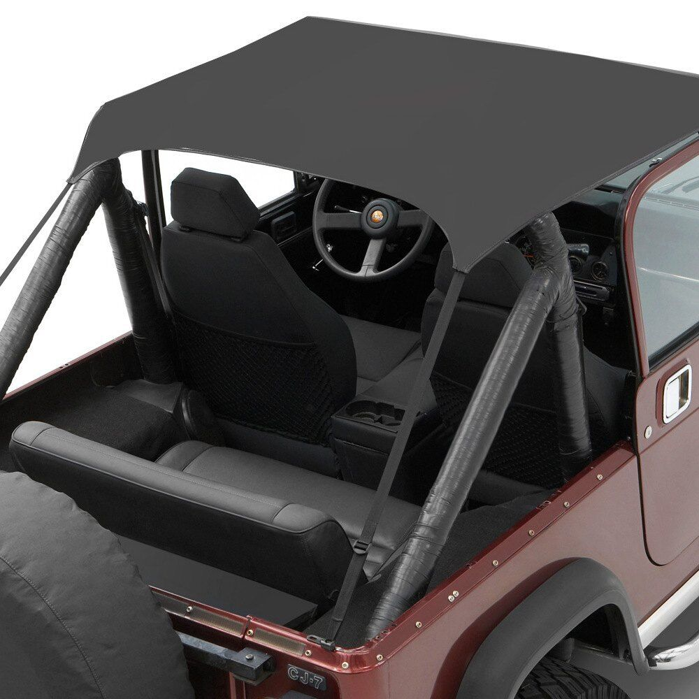 Jeep Soft Top Parts >> For Jeep CJ5 76-83 Bestop 52507-01 Traditional Style Bikini Black Crush Soft Top 77848022426 | eBay