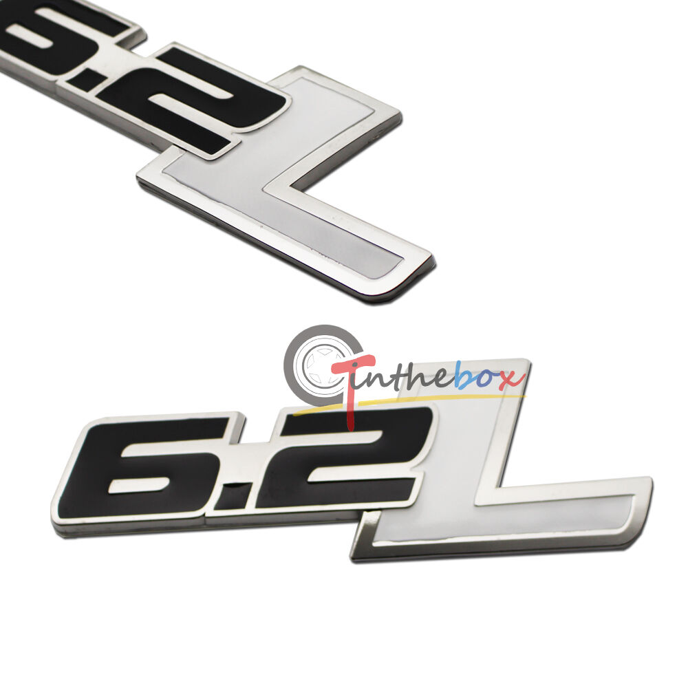 1pc 62l Side Rear Emblem For Chevy Camaro Ss Trunk Fender Badge