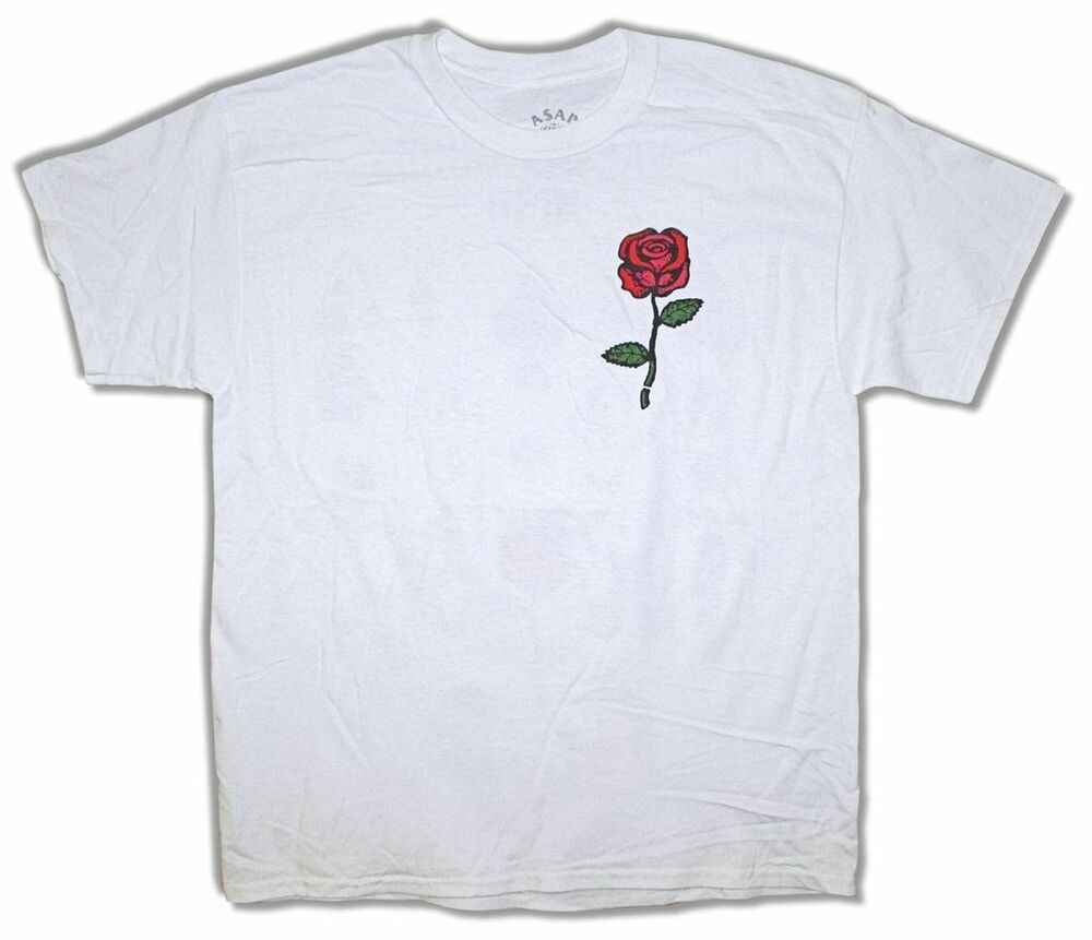 Asap mob clothing shoes accessories ebay asap yams red rose yamborghini high white t shirt new official aap mob nvjuhfo Gallery