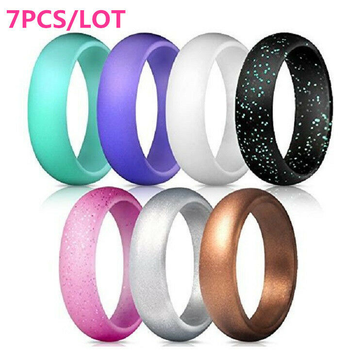 rubber wedding rings women glitter silicone rubber ring band wedding 7175