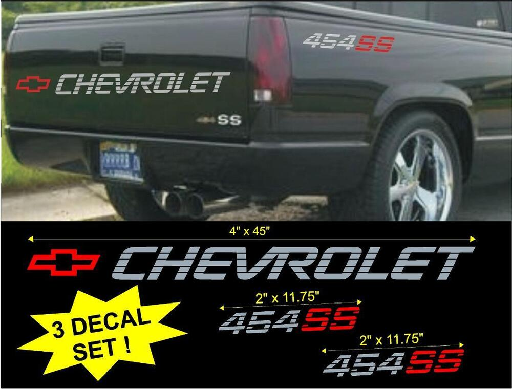 Chevrolet 454 Ss Tailgate Amp Bed Vinyl Vehicle Decal