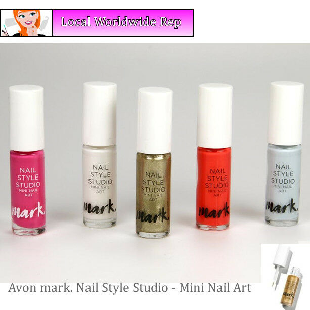 Avon Mark Nail Style Studio Mini Nail Art Vanish Enamel Fine