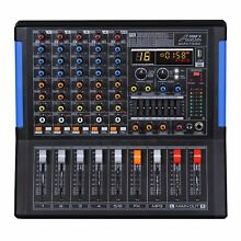 Audio2000 AMX7332 6-Ch Audio Mixer with USB Interface,Bluetooth,DSP Sound Effect