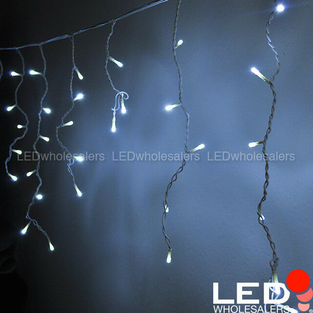 16.4-ft 120-LED Linkable Outdoor Christmas Icicle Lights with White ...