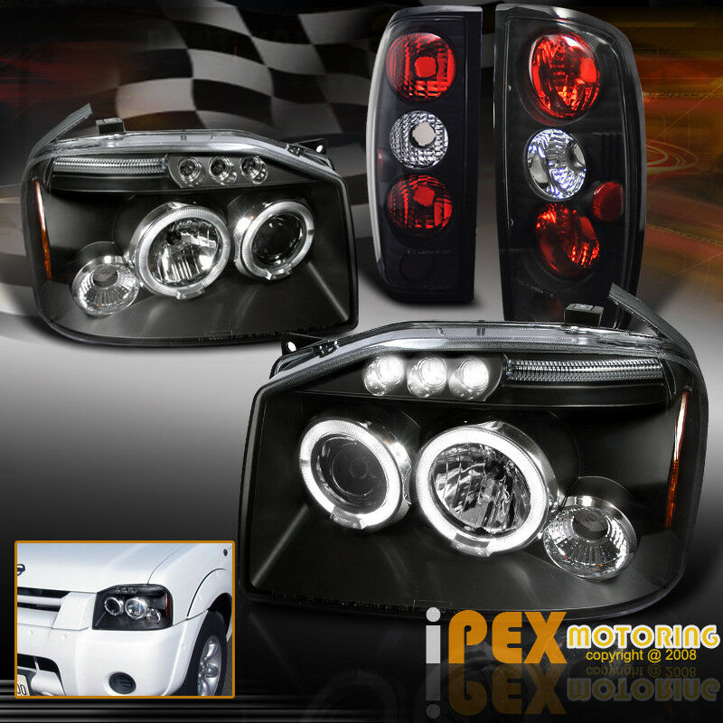 For 2001-2004 Nissan Frontier Halo Projector LED Headlights + Tail ...