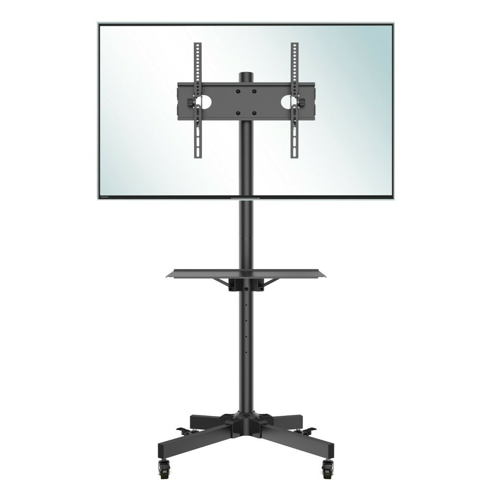 Mobile Tv Cart Floor Stand Mount Home Display Trolley For