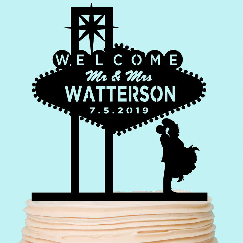 Saved By The Bell Wedding In Las Vegas Watch Online: Welcome To Las Vegas Cake Topper Wedding Couple