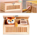 Cute Useless Box Leave Me Alone Box Wooden Most Machine Don't Touch Tiger Toy