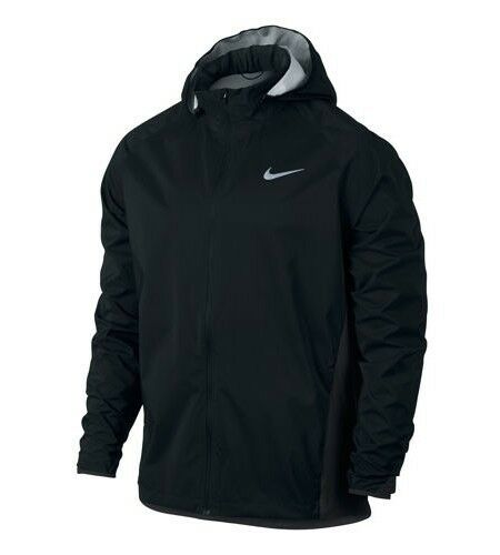 81ddbb4764d3 Nike Shield Men`s Hooded Running Jacket Black 801783 011