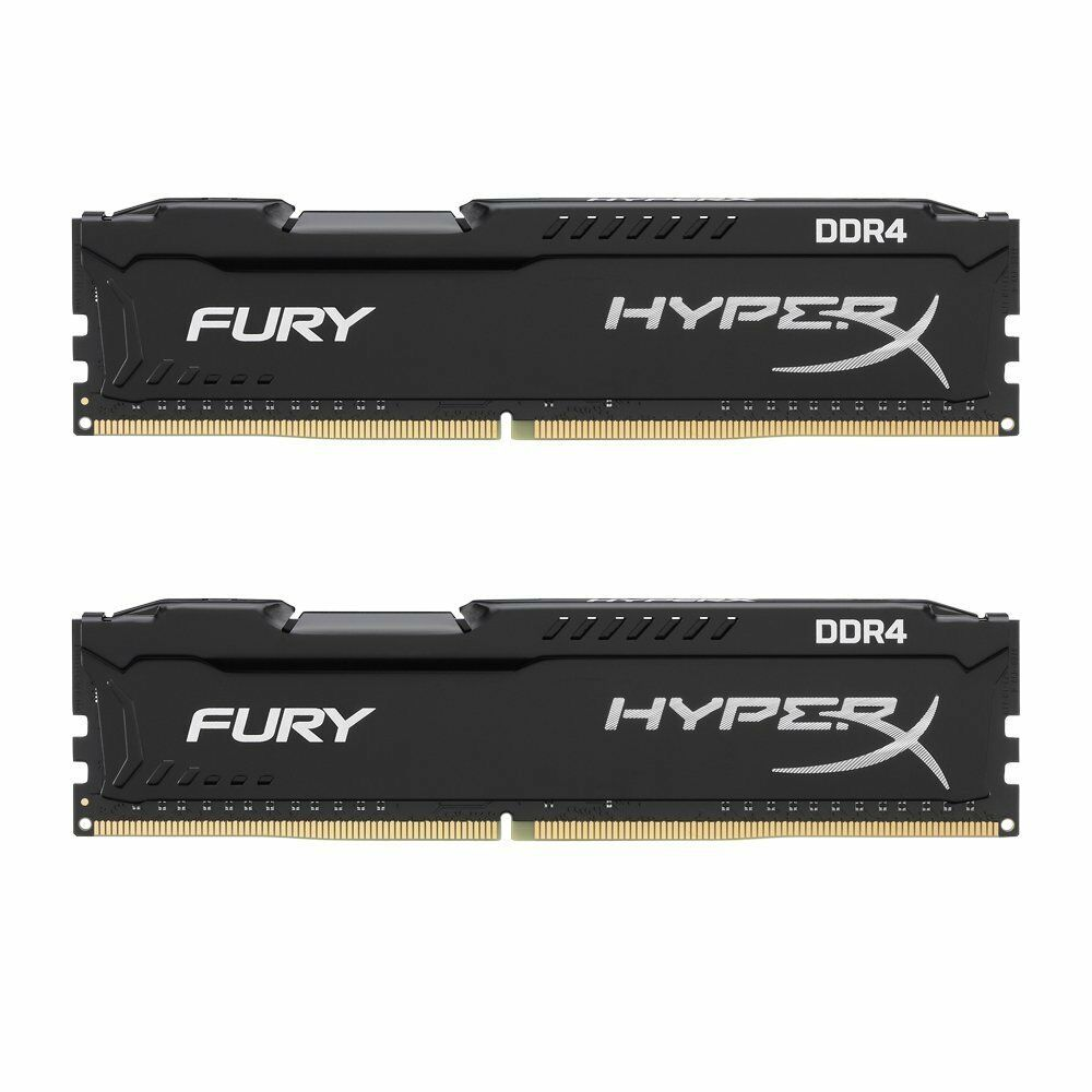 arbeitsspeicher ram kingston hyperx fury black series ddr4. Black Bedroom Furniture Sets. Home Design Ideas