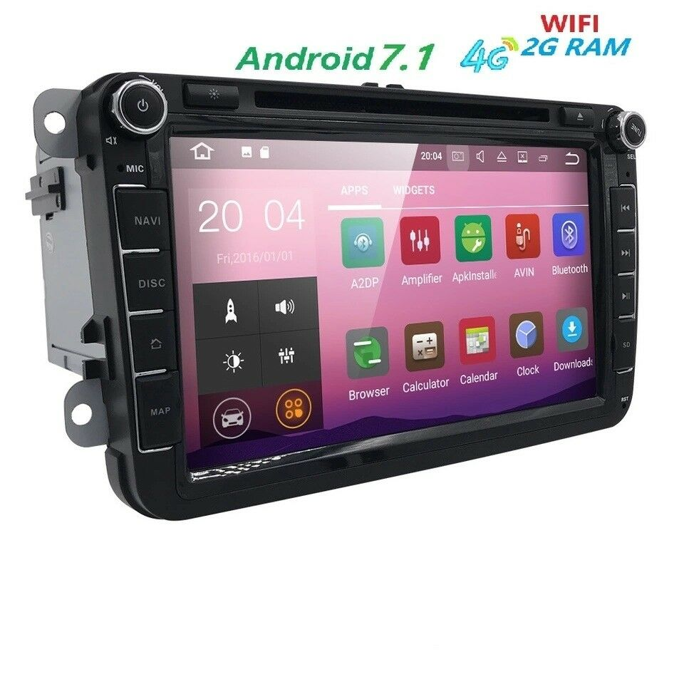 autoradio rns 510 stereo 8 pollici android 7 1 vw golf tiguan passat touran polo ebay. Black Bedroom Furniture Sets. Home Design Ideas