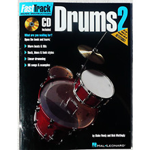 Fast Track Drum Lessons Vol 2 - Learn to Play The Drums Book & CD New Free Ship