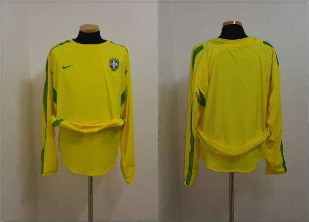 BRAZIL SHIRT JERSEY LONG SLEEVE L S PLAYER ISSUE DOUBLE LAYER NIKE | eBay