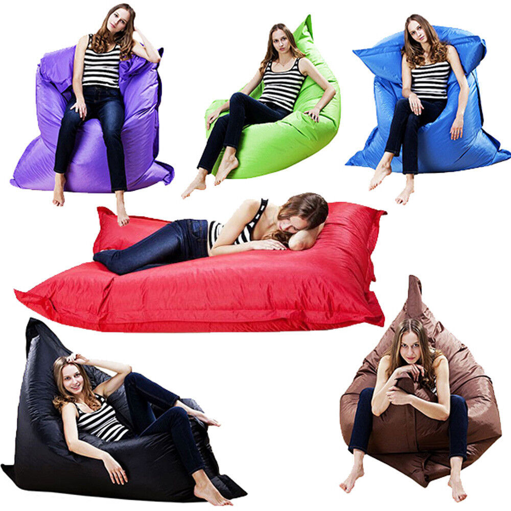 giant beanbag cushion pillow indoor outdoor relax gaming. Black Bedroom Furniture Sets. Home Design Ideas