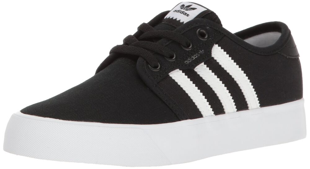 buy popular 308f8 2400e Adidas BY3838 Seeley J Boys BlackWhite Sneakers  eBay