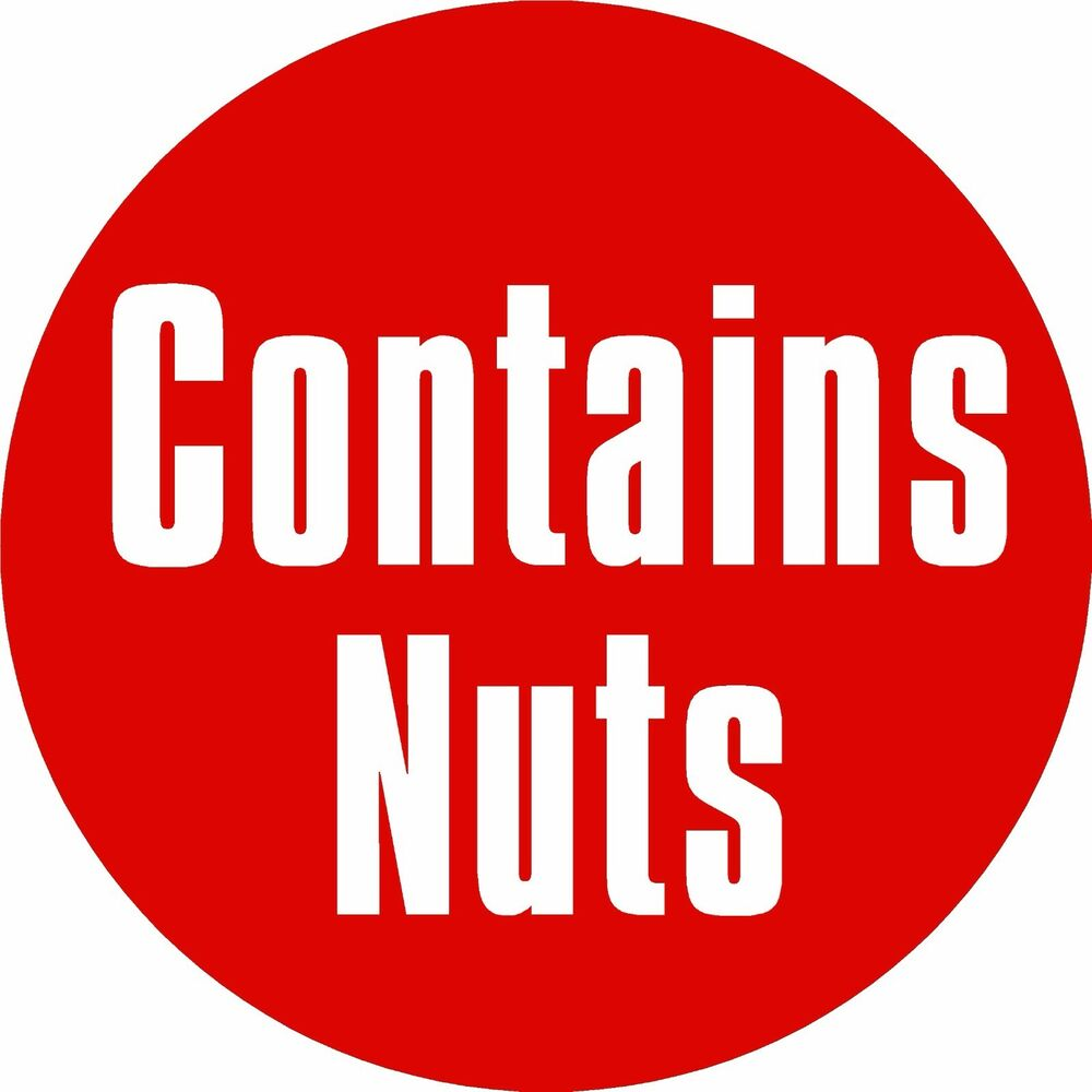 Details about contains nuts labels printed self adhesive vinyl stickers x108