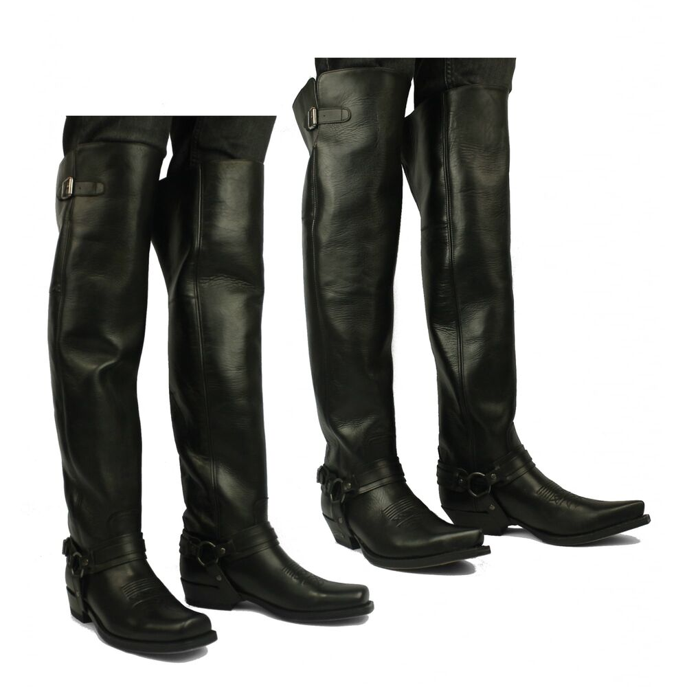 Sendra 7977 Mens Leather Over Knee Thigh High Pull On