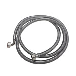"""METAL BRAIDED STAINLESS STEEL WATER SUPPLY HOSE 3/4"""" X 3/4"""" 2.5M GLASSWASHER"""