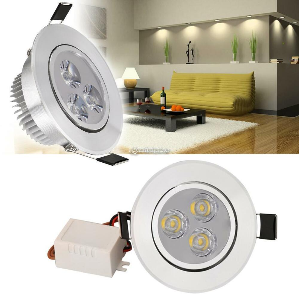 9w led einbauleuchte einbau strahler decken leuchte set einbau spot 45 hot mode ebay. Black Bedroom Furniture Sets. Home Design Ideas