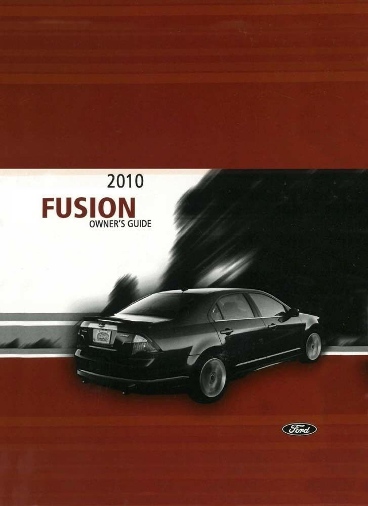 ford fusion owner manual user guide reference