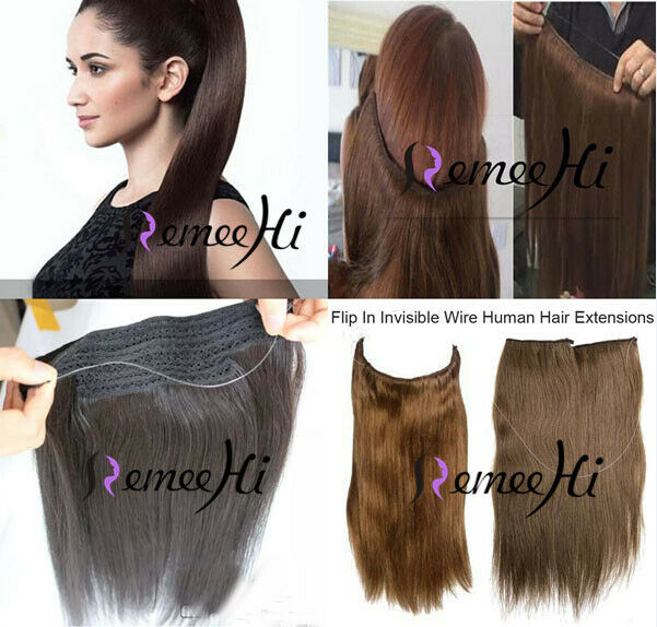 New Hidden Invisible Flip On Weft 100 Real Human Hair Extension