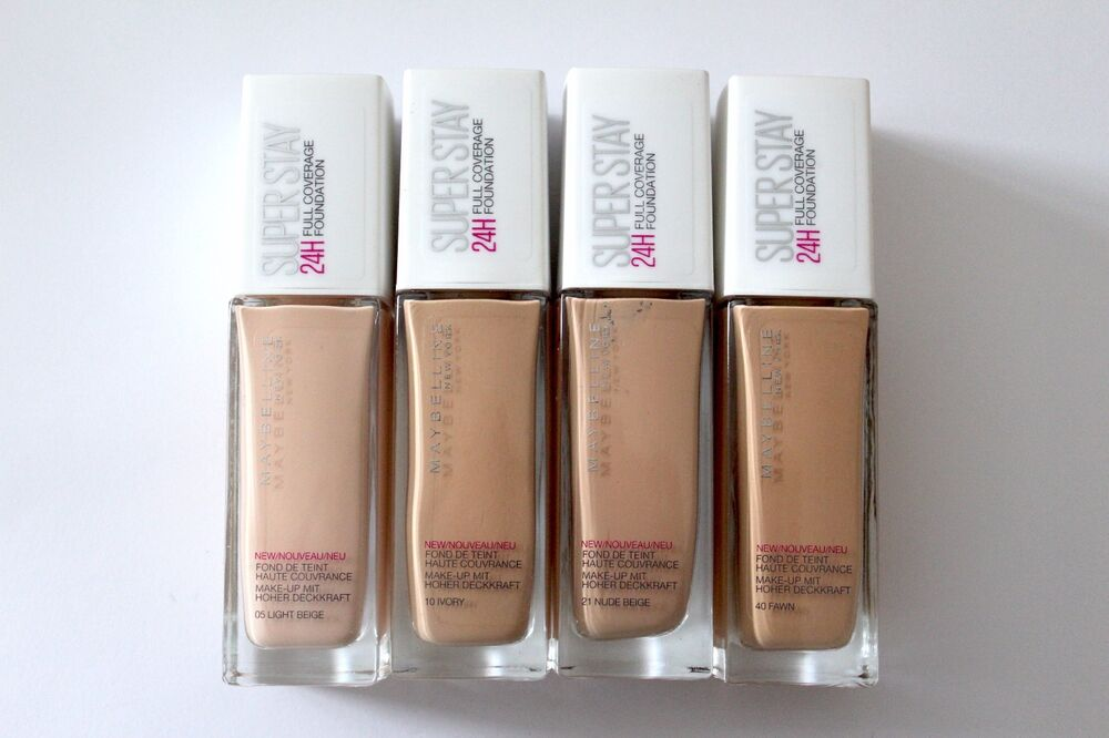 maybelline superstay 24h foundation shades
