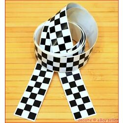 Chequered CAFE RACER Project Pair Stripes Lengths Decals Stickers Tapes 30mm