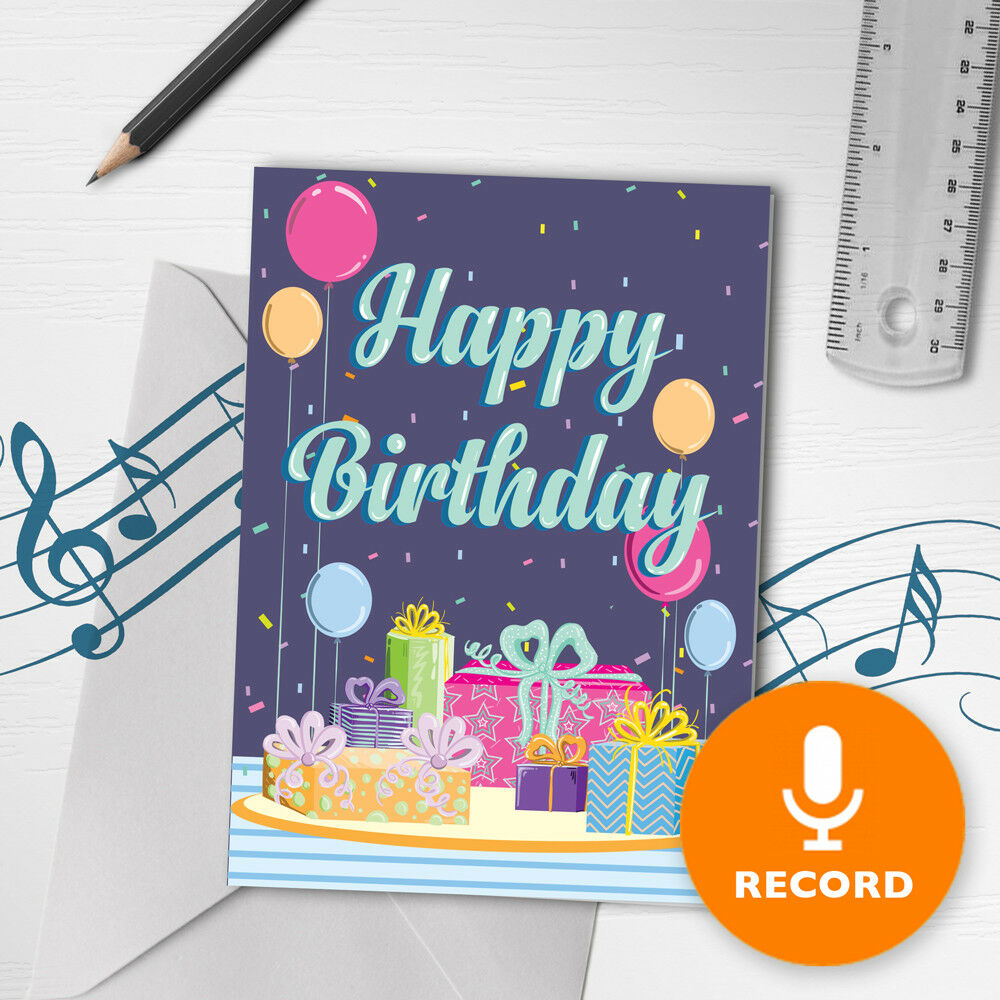 120s Happy Birthday Card With Music
