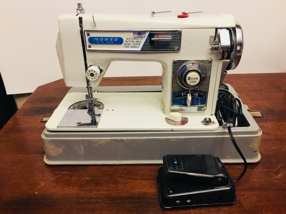 Morse Zig Zag Sewing Machine Model 40 With Pedal And Case EBay Adorable Morse 4400 Sewing Machine