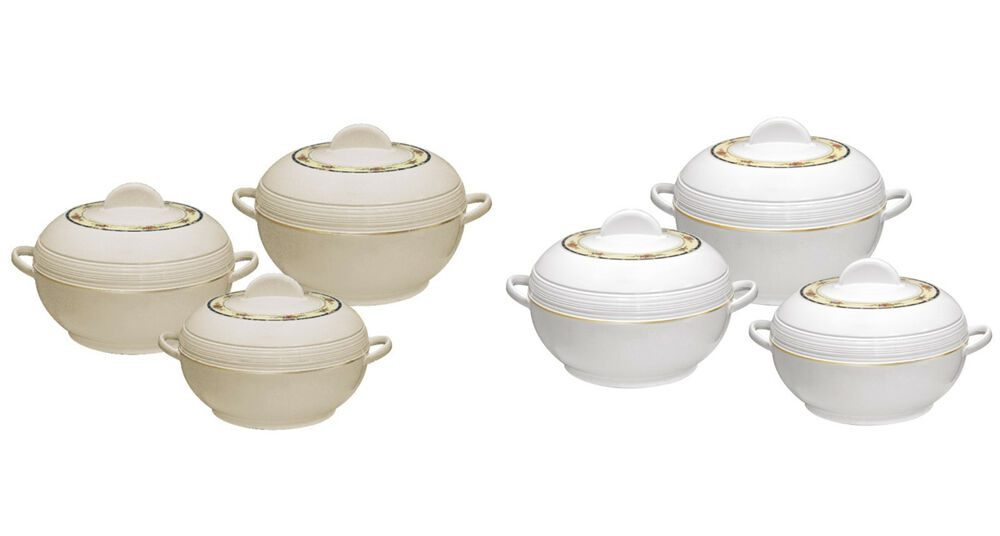 3pc Hot Pot Set Insulated Stainless Steel Casserole Food