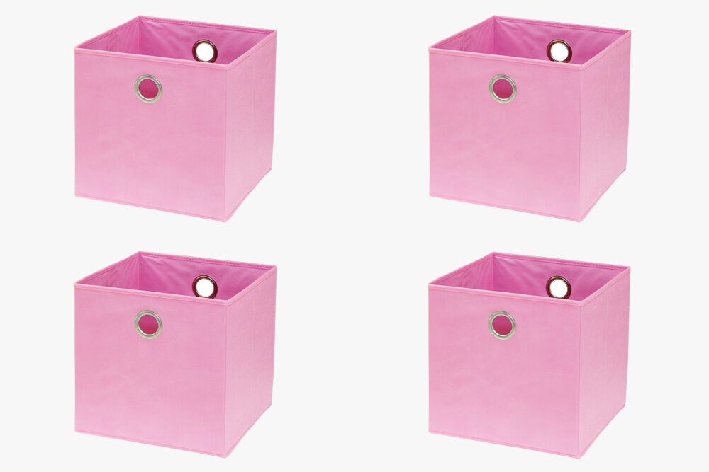 faltbox f ikea kallax expedit regal box korb rosa pink flamingo 4 st ck sparset ebay. Black Bedroom Furniture Sets. Home Design Ideas
