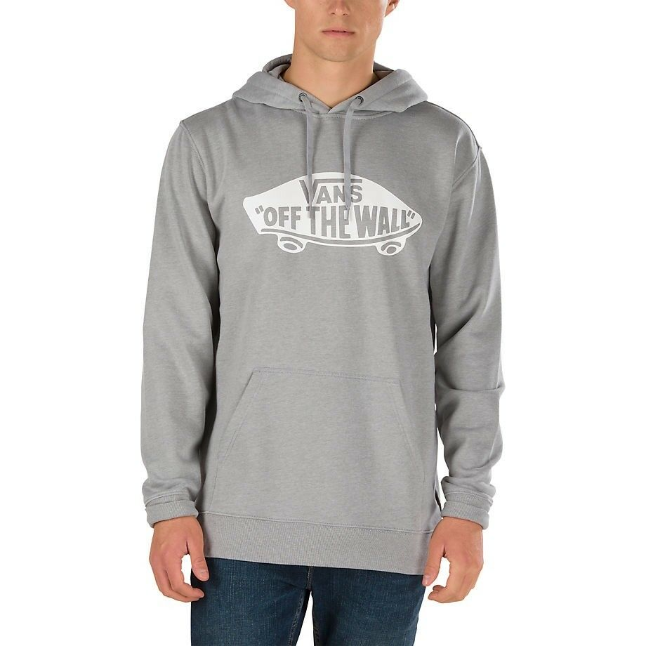 374a75ee9c Details about VANS CLASSIC OTW PULLOVER HOODIE CONCRETE HEATHER GREY WHITE