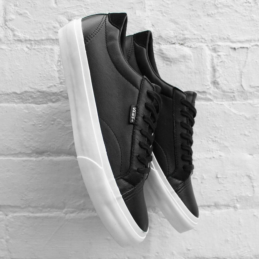 327b6e976d6013 Details about NEW VANS COURT DX LEATHER BLACK MENS SIZE 6 LACE UP SHOES NEW  IN BOX