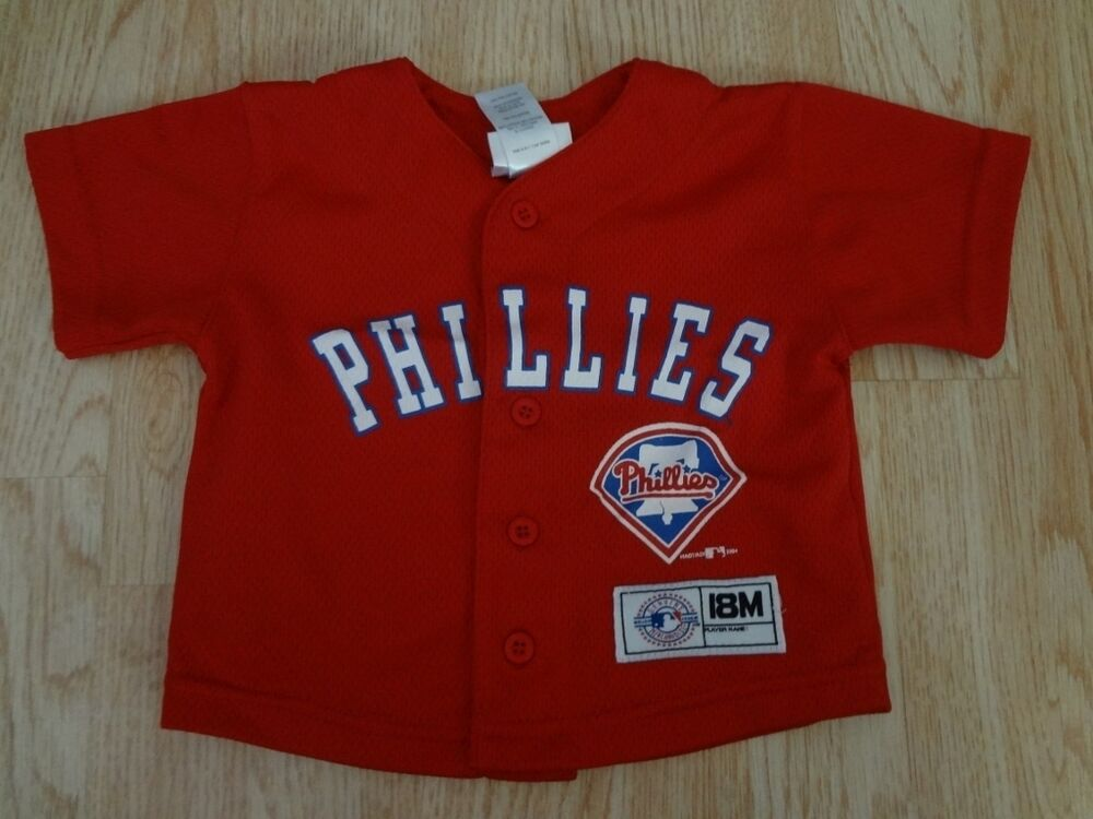 Details about Infant Baby Philadelphia Phillies 18 Mo Genuine Merchandise  Jersey 997fa6fc445