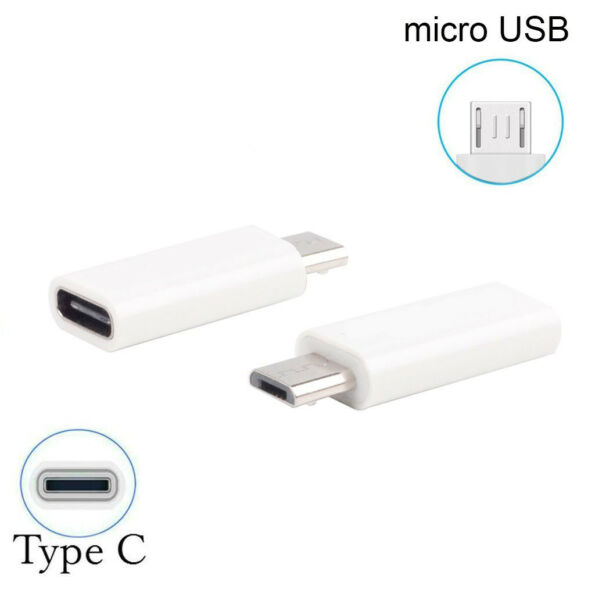 Adapter Adattatore da Type C Tipo C 3.1 Femmina a Maschio Data Micro USB 2.0