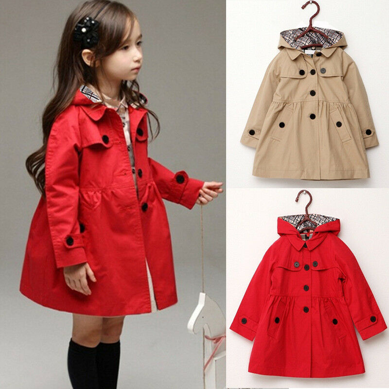 Fashion Kids Girls Winter Clothes Fleece Outerwear Long